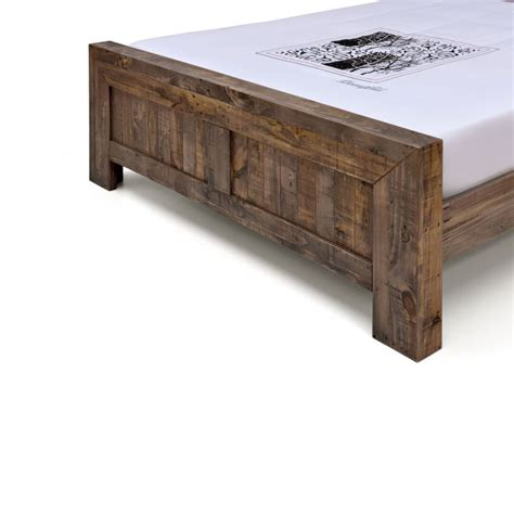 rustic pine bed frame boston rustic pine recycled timber bed frame buy
