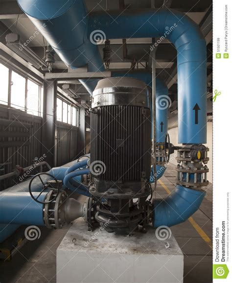 Large Electric Motor by Water With Large Electric Motors Stock Image Image