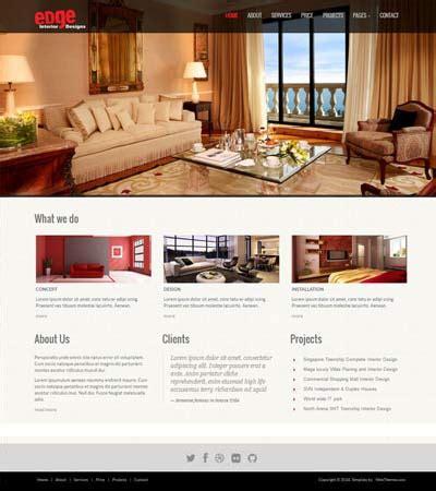 interior design website templates interior design responsive website templates edge