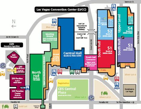 las vegas convention center floor plan las vegas convention center map