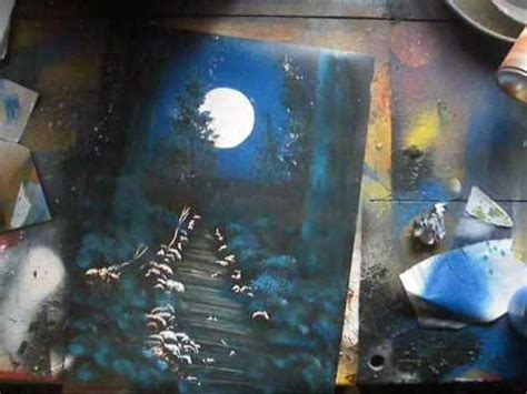 spray paint tutorial spray paint tutorial moonlit forest