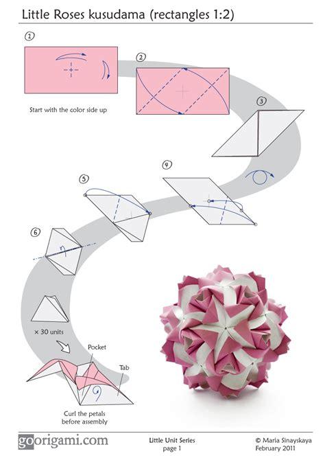 origami one sheet roses kusudama diagram page 1 go origami