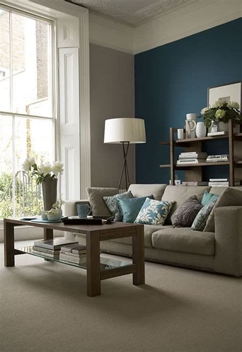 paint colors for living room with blue furniture 26 cool brown and blue living room designs digsdigs