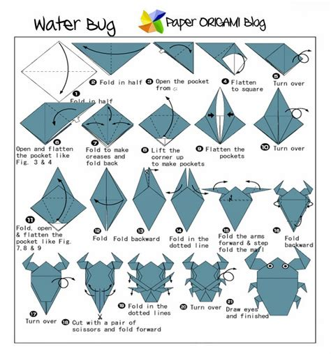 Simple Origami Tadpole Paper Origami Guide