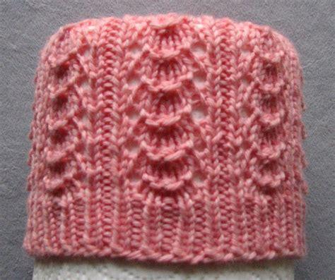 knit ribbing stitches of violet shell ribbing stitch pattern