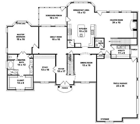 5 bedroom house plans 1 story 5 bedroom 3 bath house plans unique one story 5 bedroom house floor plans house plans