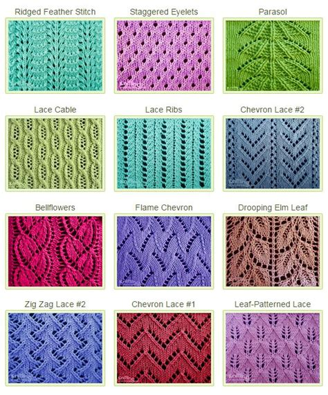 different knitting stitches 25 best ideas about lace knitting patterns on