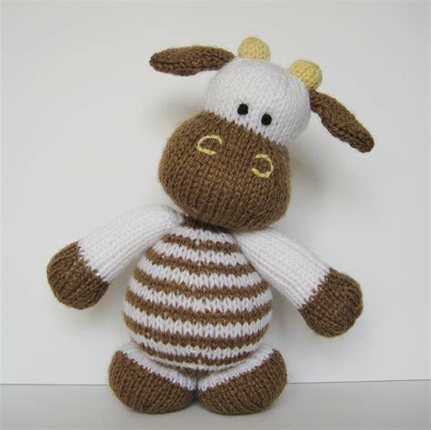 knitting patterns toys animals milkshake the cow knitting pattern knitted farm