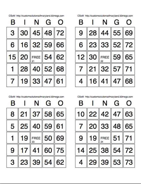 how to make bingo cards with numbers best photos of printable bingo cards with numbers free
