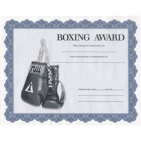 title boxing award certificates title boxing
