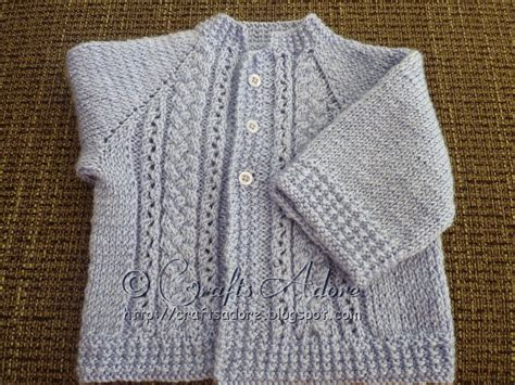 baby boy sweater patterns to knit craftsadore quot handsome cables quot knitted baby boy cardigan