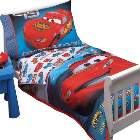 cars toddler bedding sets disney cars race toddler bedding set lightening mcqueen