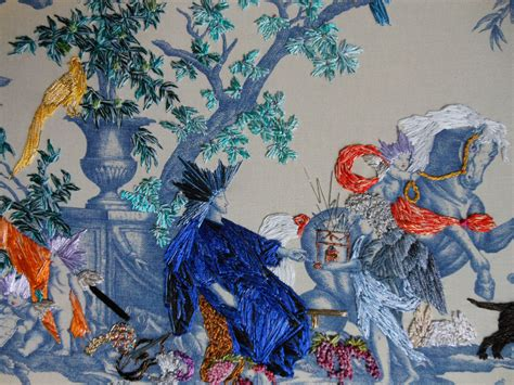 whole painting toile embroidery by richard saja artstormer