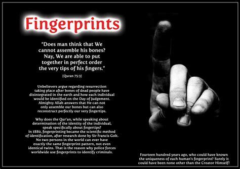 picture quran modern science fingerprints