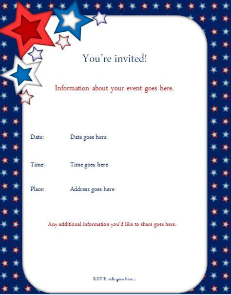 template for invitation birthday invitation template