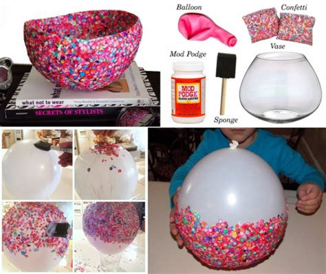 crafts projects diy craft project confetti bowls find projects