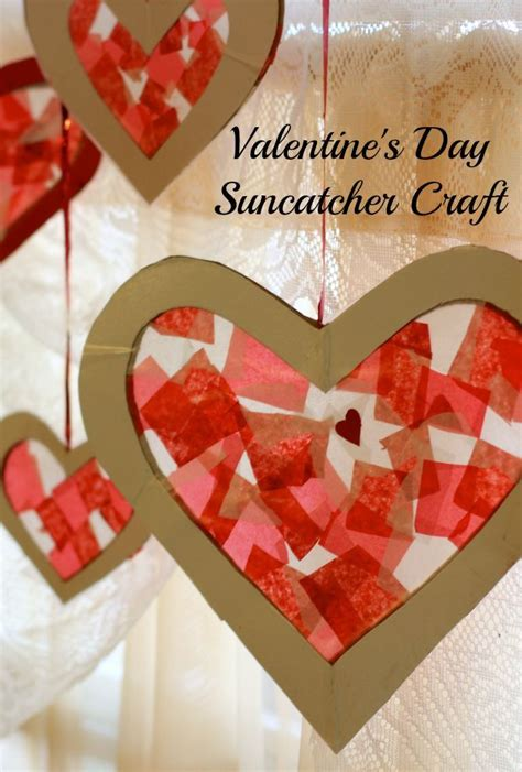 paper valentines crafts easy s day craft for tissue paper