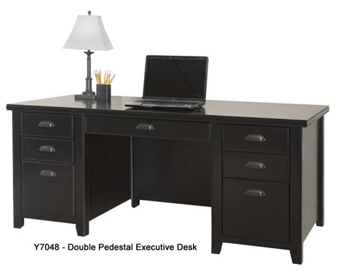 black office desk tribeca loft black office furniture series