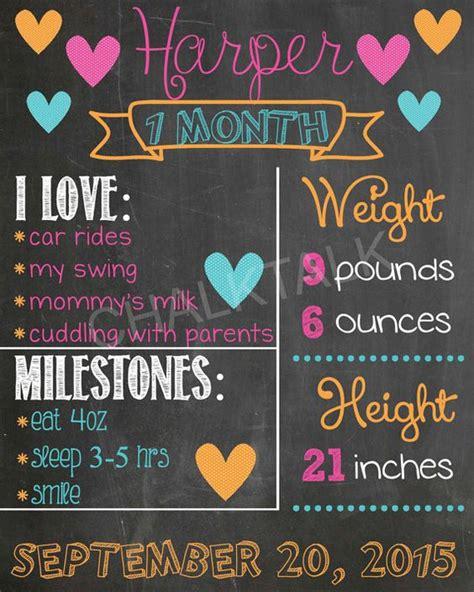diy chalkboard milestone baby s year monthly milestone chalkboard printables