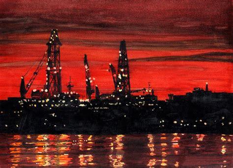 paint nite portland oregon rigs construction portland harbor painting by
