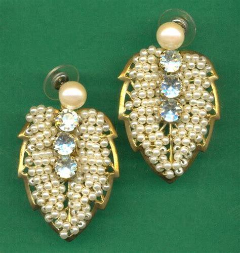 pearl jewelry supplies diy pearl leaf earrings jan s jewelry supplies