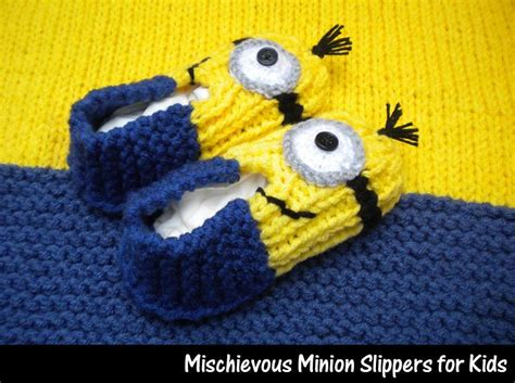 how to knit minions mischievous minion slippers for by auntjanet craftsy