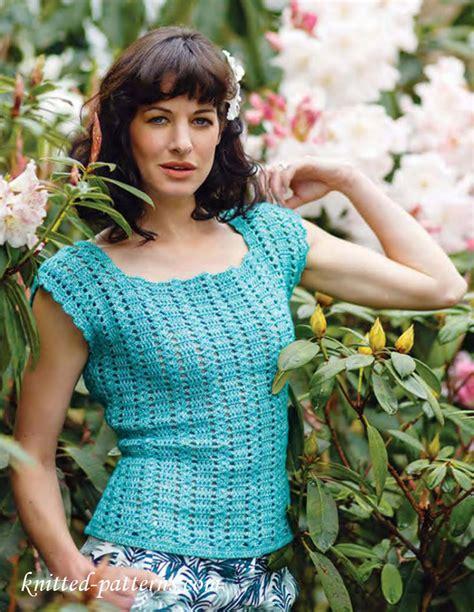 free knitting patterns for summer tops summer top free crochet pattern free knitting patterns