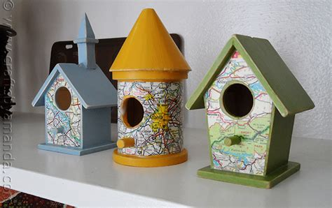 craft projects for adults road map birdhouses crafts by amanda