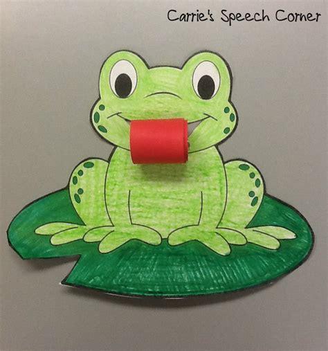 frog craft project carrie s speech corner articulation frogs a craftivity