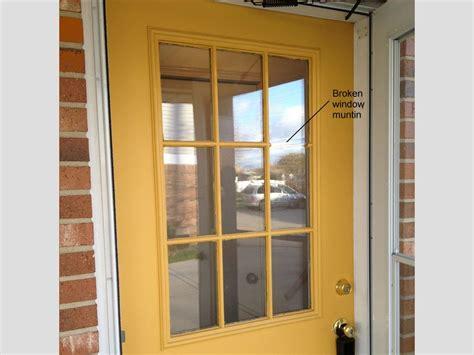 exterior door window how to replace a glass frame in an exterior door