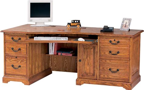 oak office furniture for the home winners only home office furniture h174lw wedge shaped oak
