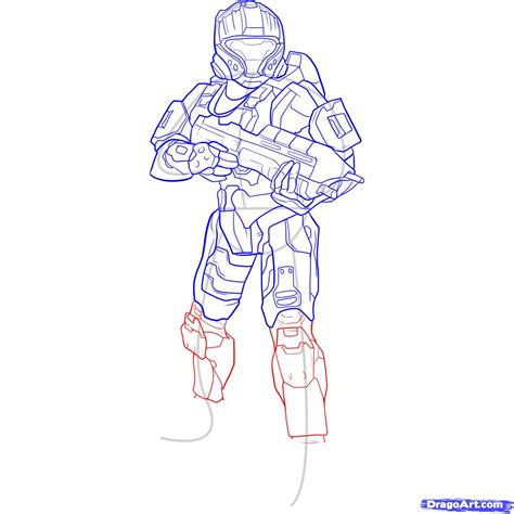 to draw how to draw a halo spartan step by step