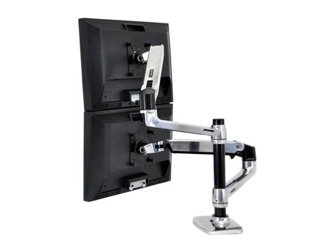 lx desk mount lcd arm ergotron lx dual stacked desk mount lcd arm radius office