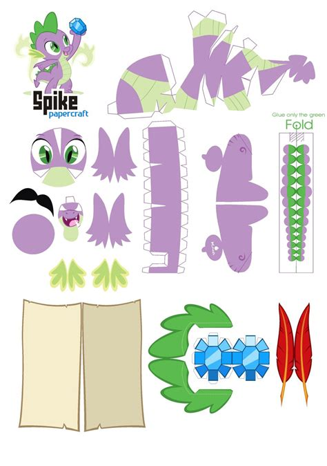 pattern paper craft spike papercraft pattern by kna on deviantart