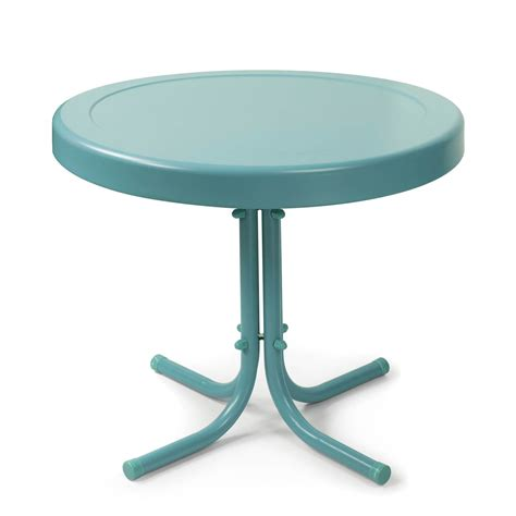 patio side table metal crosley retro metal side table patio accent tables at