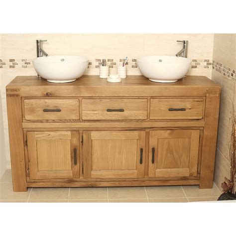 large bathroom vanity units milan large rustic oak bathroom vanity unit click oak