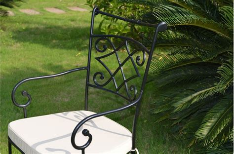 wrought iron patio chair cushions outdoor garden indoor wrought iron chair free washable