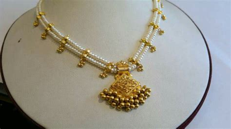 pearls with gold two layered pearl necklace with gold pendant