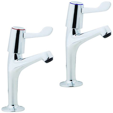 wickes modena pillar kitchen sink taps chrome wickes co uk