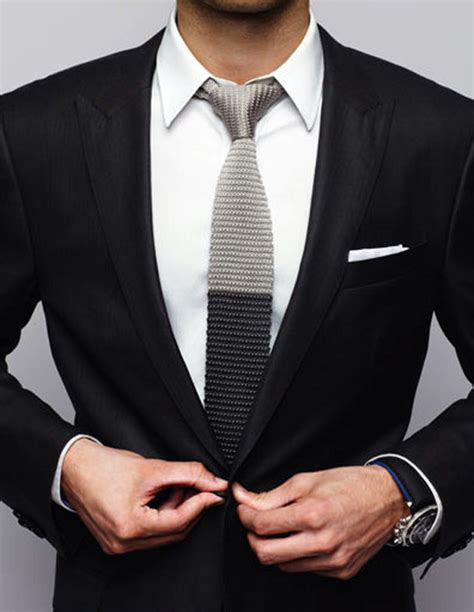knitted suit two tone knit tie tuxedo soletopia
