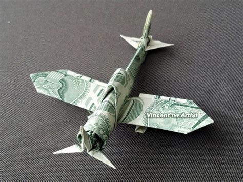 dollar bill origami plane zero fighter plane money origami vincent the artist
