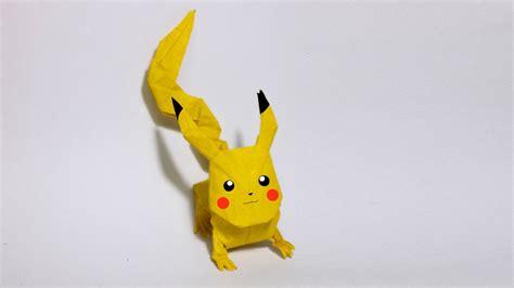 origami pokemons go origami pikachu tutorial henry
