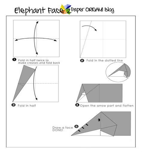 origami elephant diagram easy origami elephant for paper origami guide