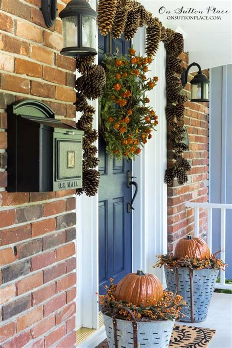 front porch decor easy diy fall porch decor ideas on sutton place