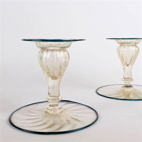 italian glass set of four mid century venetian italian glass