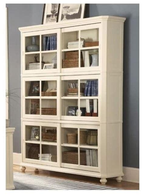 enclosed bookshelves barrister bookcase glass panel sliding doors 3 enclosed