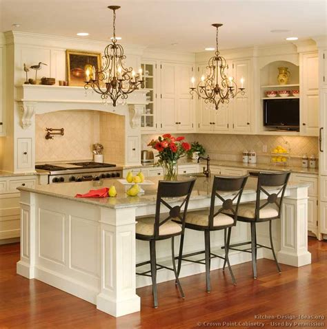 white kitchen islands with seating pictures of kitchens traditional two tone kitchen cabinets kitchen 138