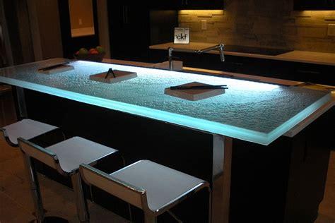 kitchen countertop lighting trends talking glass countertops with vladimir
