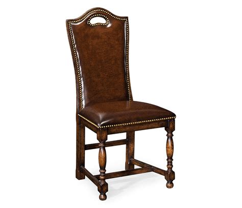 leather high back dining chairs oak high back leather side dining chair swanky interiors