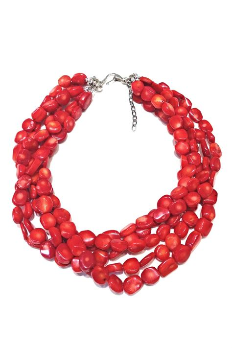 coral necklace treasures hanover coral necklace from pennsylvania